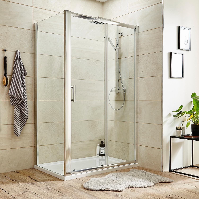 Premier Pacific Sliding Shower Door 1500mm Wide - 6mm Glass-1