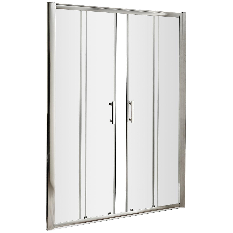 Premier Pacific Double Sliding Shower Door 1400mm Wide - 6mm Glass-1