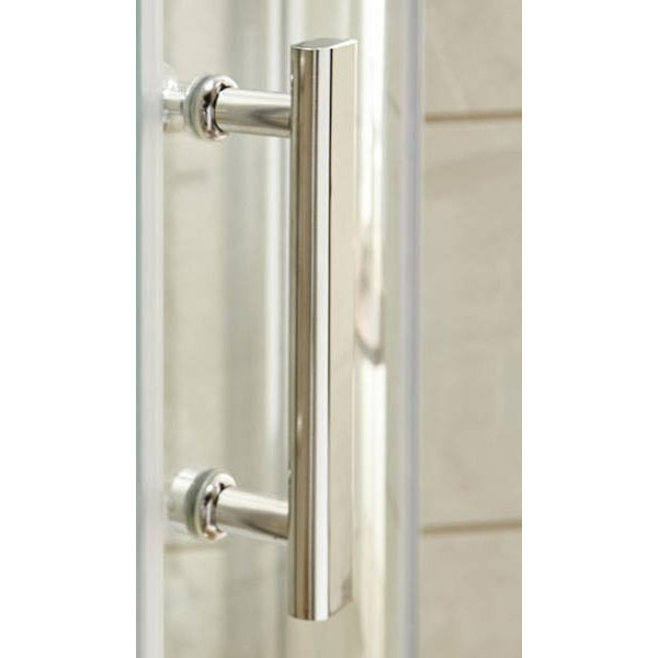 Premier Pacific Hinged Shower Enclosure 700mm x 700mm with Shower Tray - 6mm Glass-2