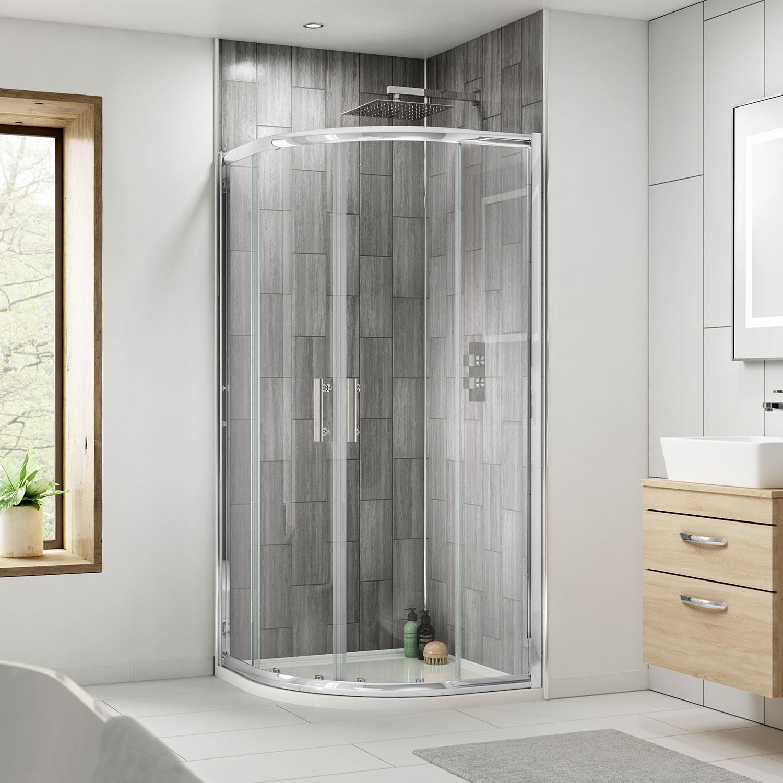 Premier Pacific Quadrant Shower Enclosure 1000mm x 1000mm - 6mm Glass-2