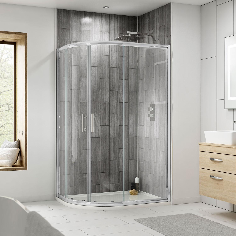 Premier Pacific Offset Quadrant Shower Enclosure 1000mm x 800mm - 6mm Glass