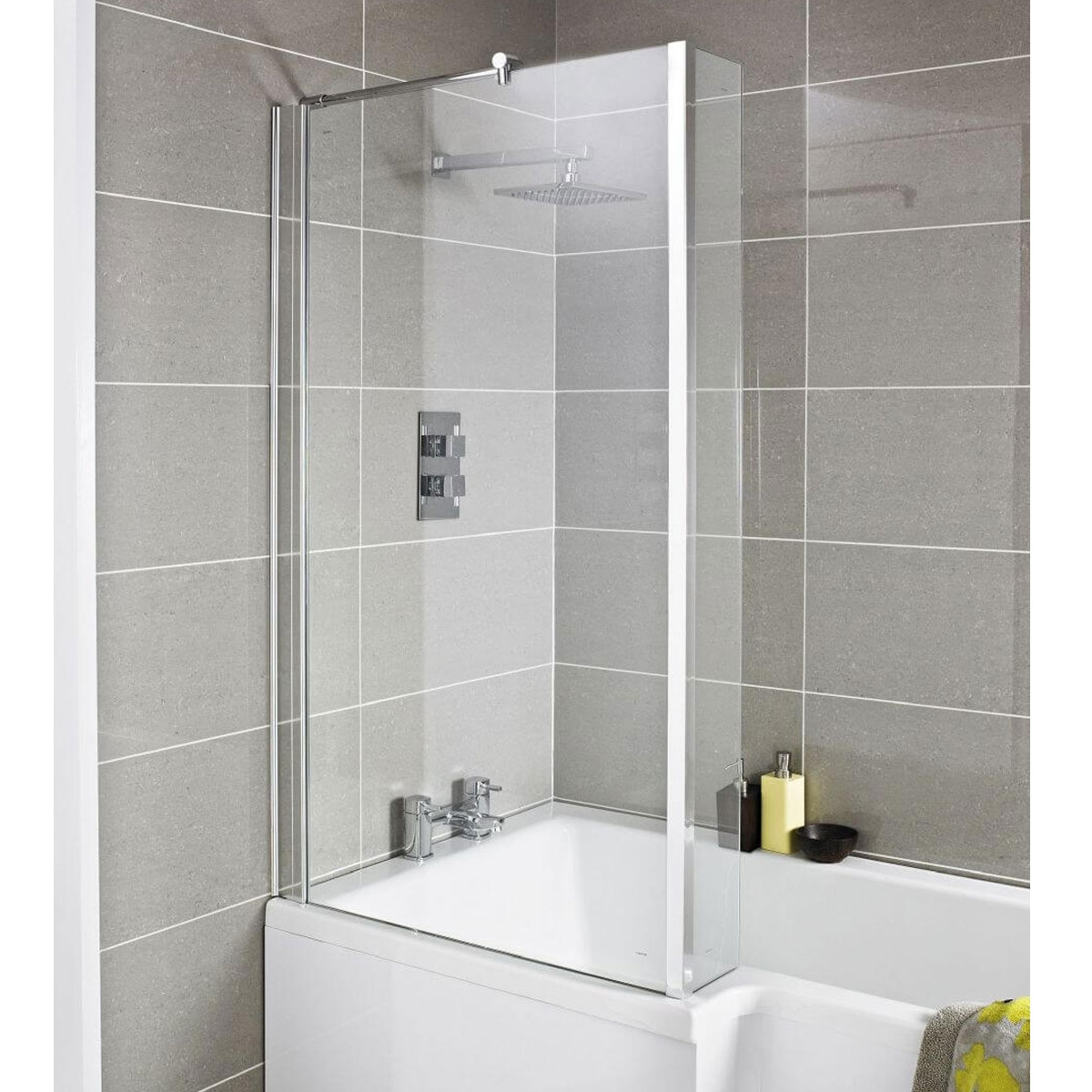 Premier Quattro Bath Screen with Double Hinged 1400mm High-0