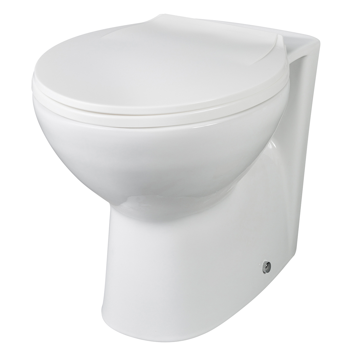 Premier Round Thermoplastic Toilet Seat, Soft Close Hinges, White