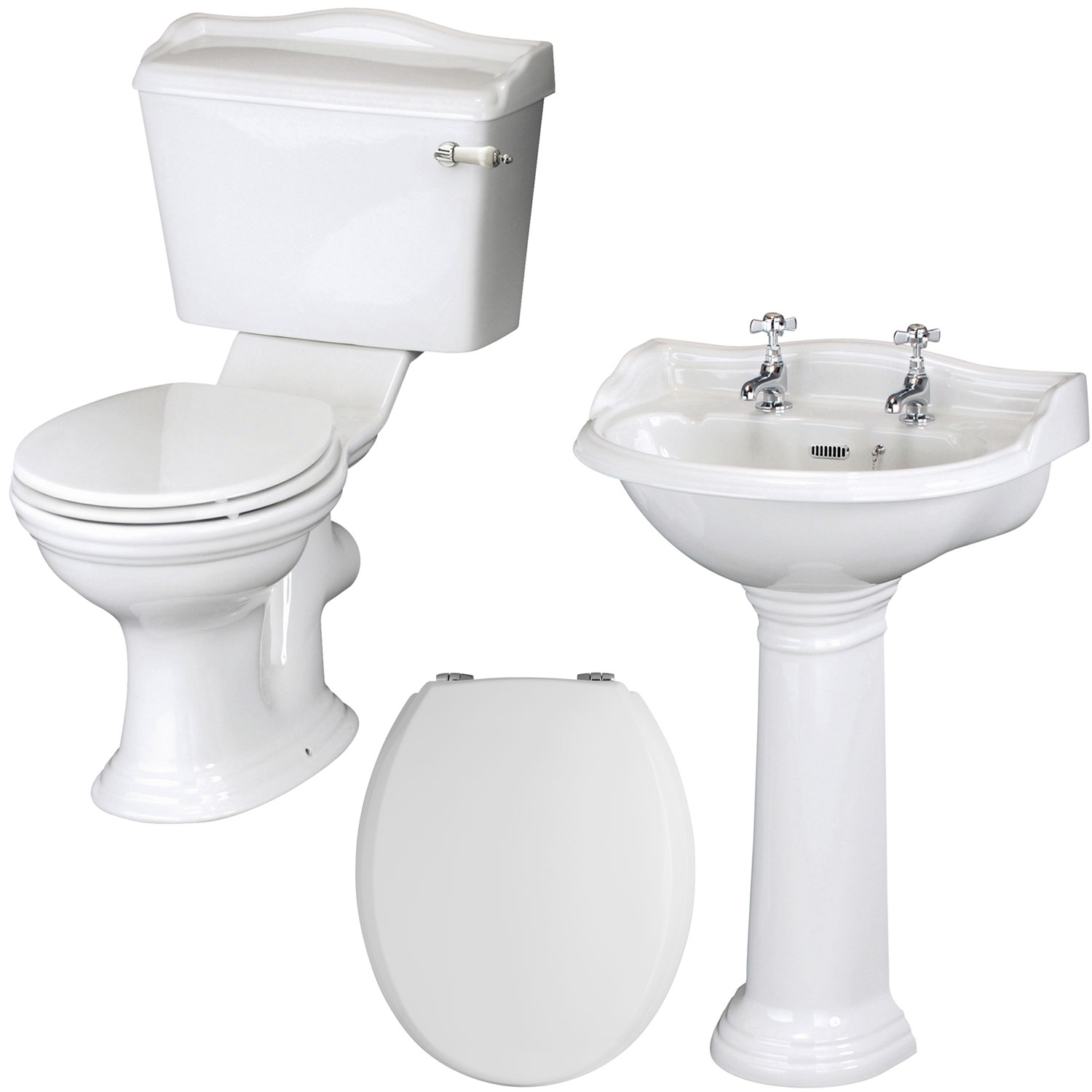 Premier Ryther Traditional Bathroom Suite 500mm Basin-2