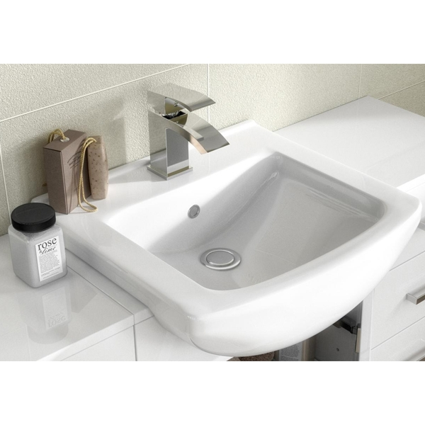Premier Saturn Combination Furniture Pack with Square Basin and WC Unit - 1 Tap Hole