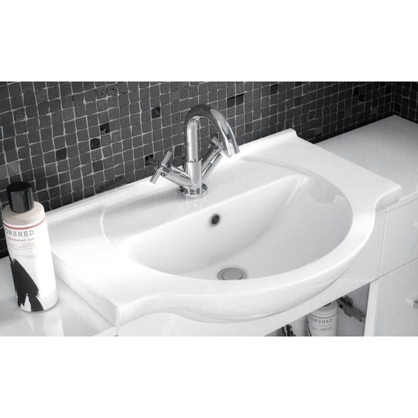 Premier Saturn Combination Furniture Pack with Round Basin and WC Unit - 1 Tap Hole-1