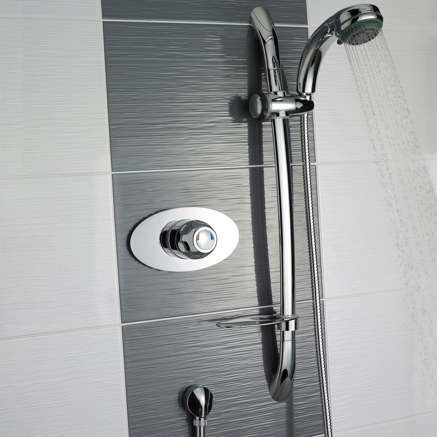 Premier Concealed Sequential Shower Mixer with Slider Rail Kit - Chrome