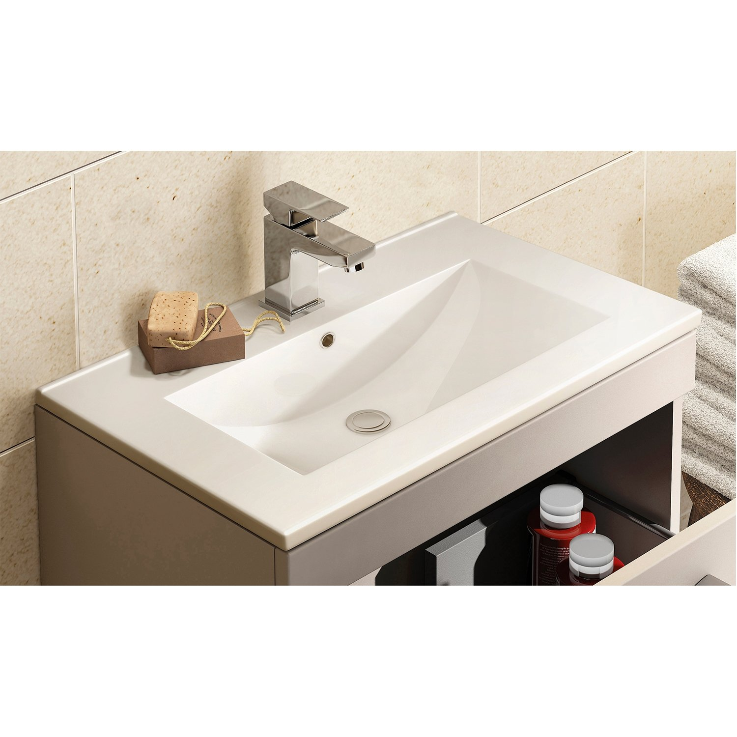 Premier shipton vanity unit 600mm floor mounted shp806 for Bathroom cabinets 500mm wide