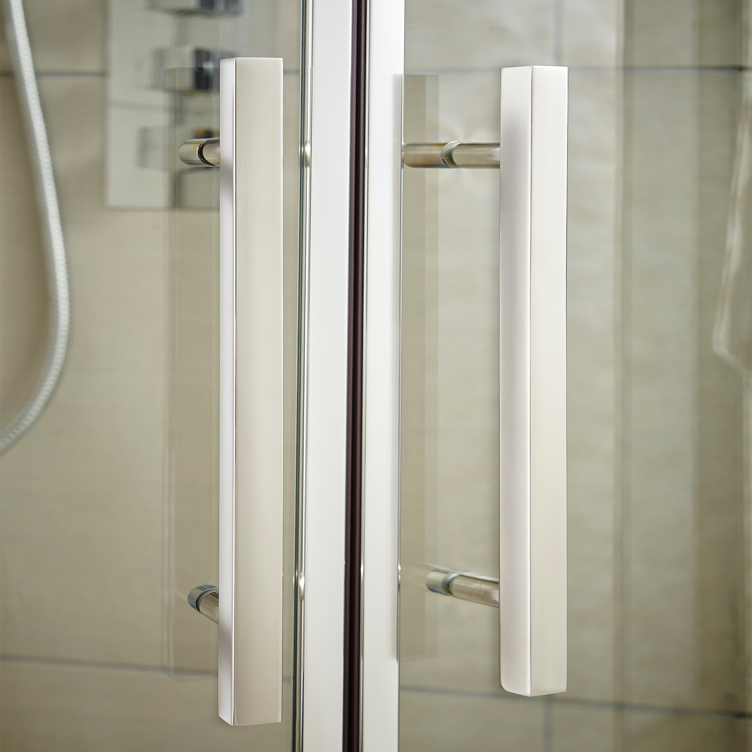Premier Shower Enclosure Pack 900mm Quadrant Twin Shower and Kit-1