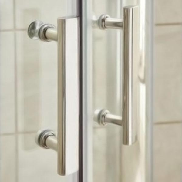Premier Quadrant Shower Enclosure Pack 900mm Triple Shower with Fixed Head & Kit-0