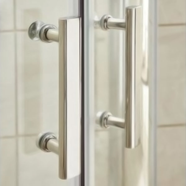 Premier Shower Enclosure Pack 800mm Quadrant Twin Shower and Fixed Head-1