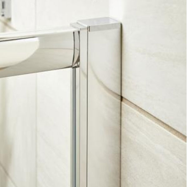 Premier Shower Enclosure Pack 800mm Quadrant Twin Shower and Fixed Head-3