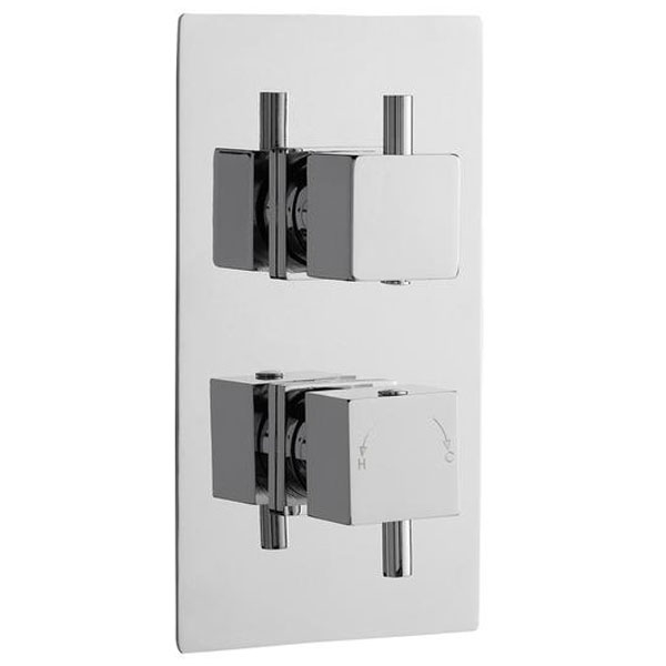 Premier Shower Enclosure Pack 800mm Quadrant Twin Shower and Fixed Head-6