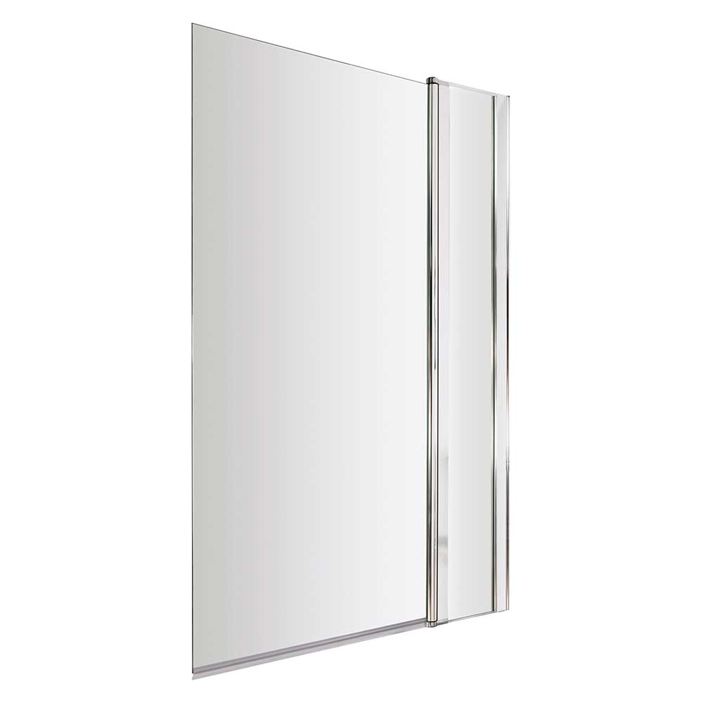 Premier Square Bath Screen with Panel, 1435mm High x 985-1005mm Wide, 6mm Glass-0