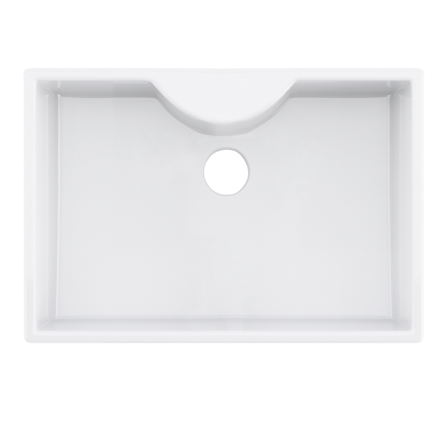 Premier Staffordshire Ceramic Kitchen Sink 1.0 Bowl 595mm L x 450mm W - White