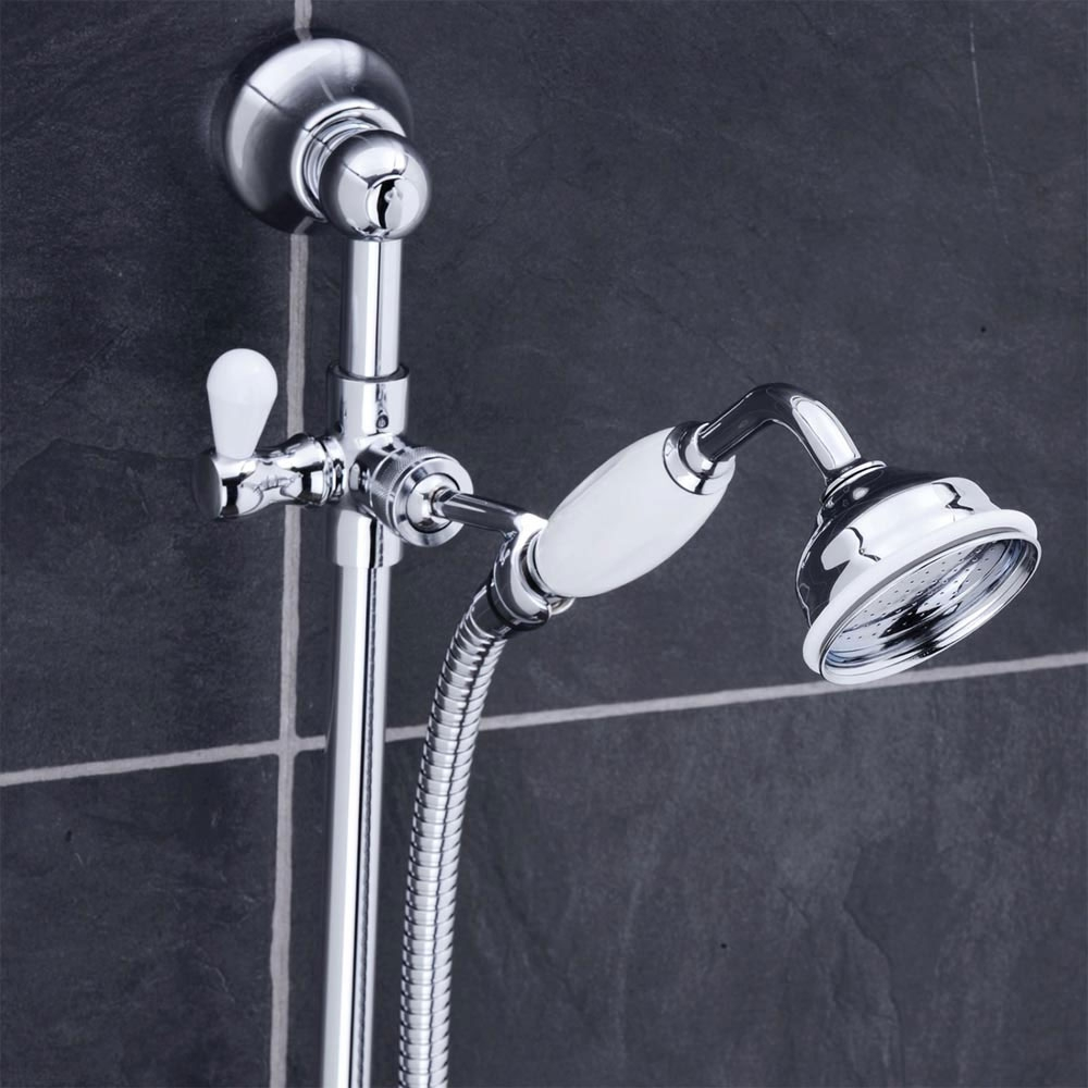 Premier Traditional Dual Exposed Shower Valve with Slider Rail Kit - Chrome