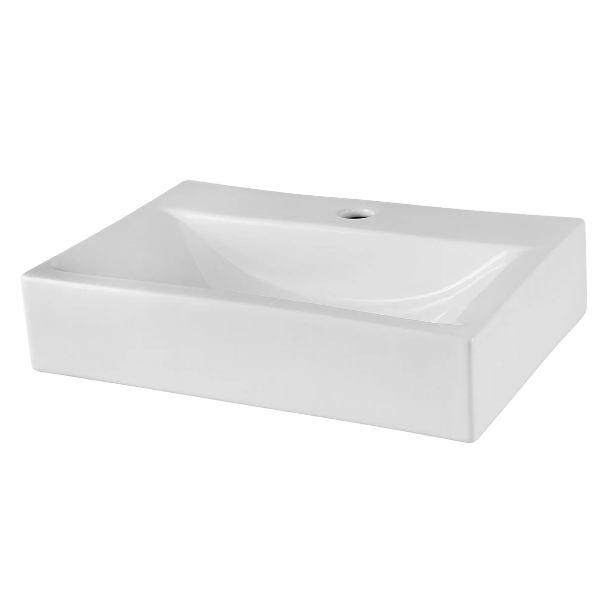 Premier Vessels Rectangular Countertop Basin 460mm Wide - 1 Tap Hole