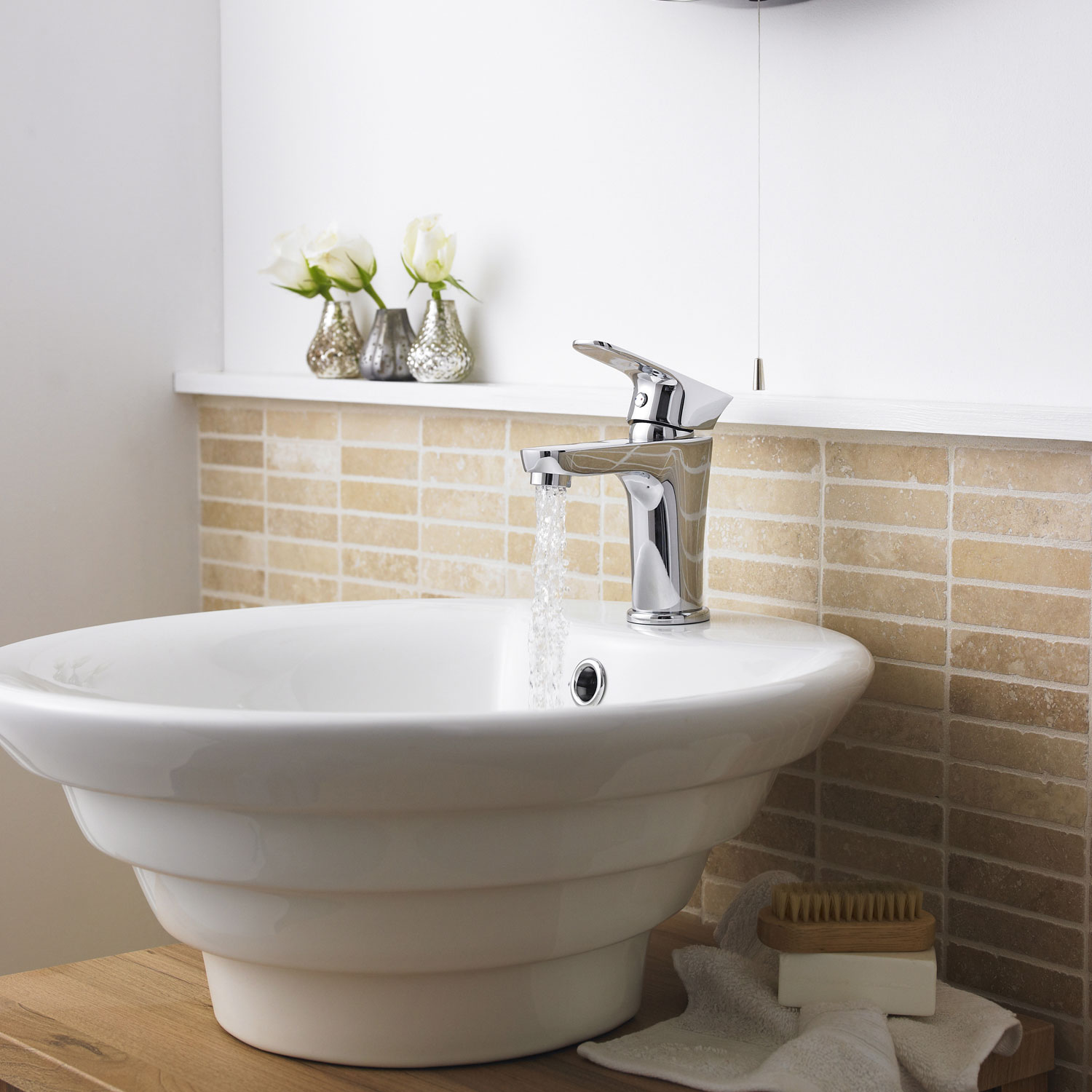 Premier Vessels Sit-On Countertop Basin 460mm Diameter - 1 Tap Hole