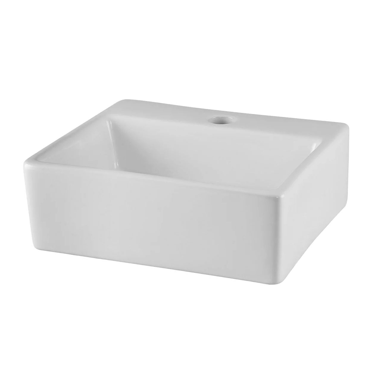 Premier Vessels Rectangular Countertop Basin 335mm Wide - 1 Tap Hole