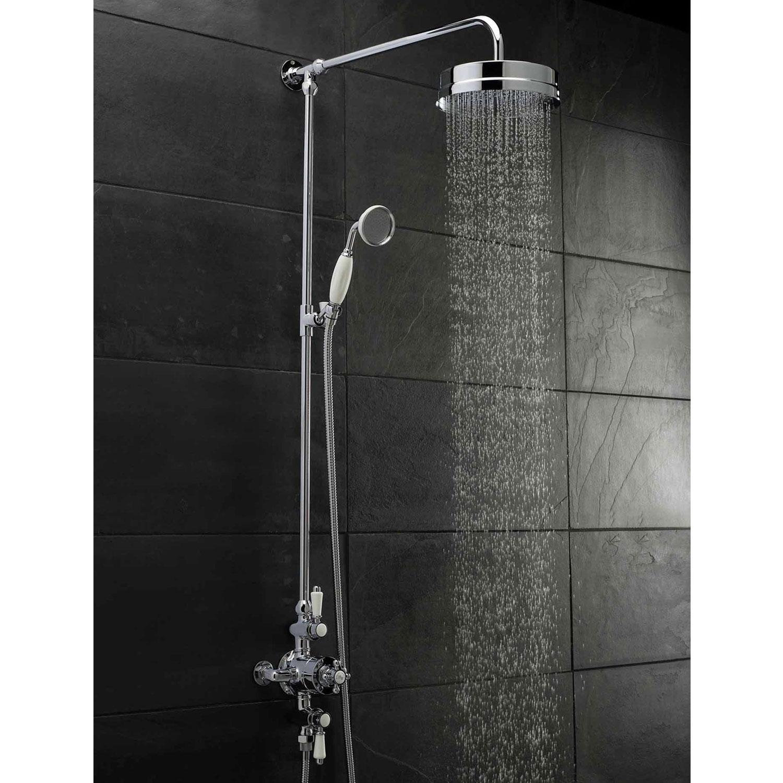 Premier Victorian Exposed Shower Valve Triple Handle - Chrome