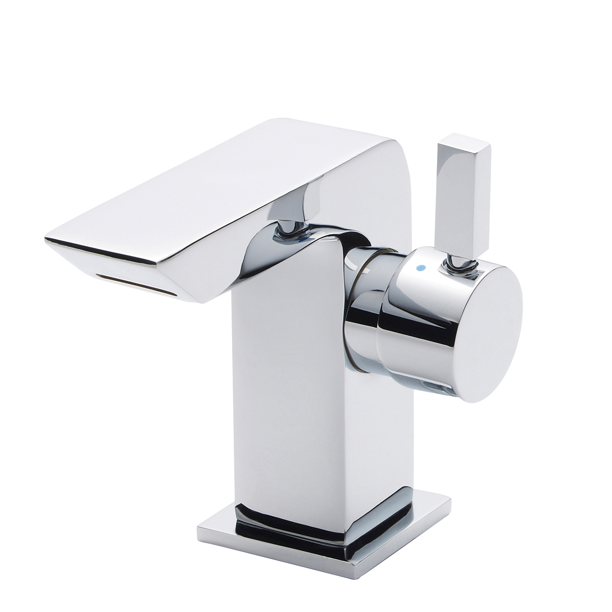 Premier Waterfall Mini Mono Basin Mixer Tap Single Handle with Waste - Chrome