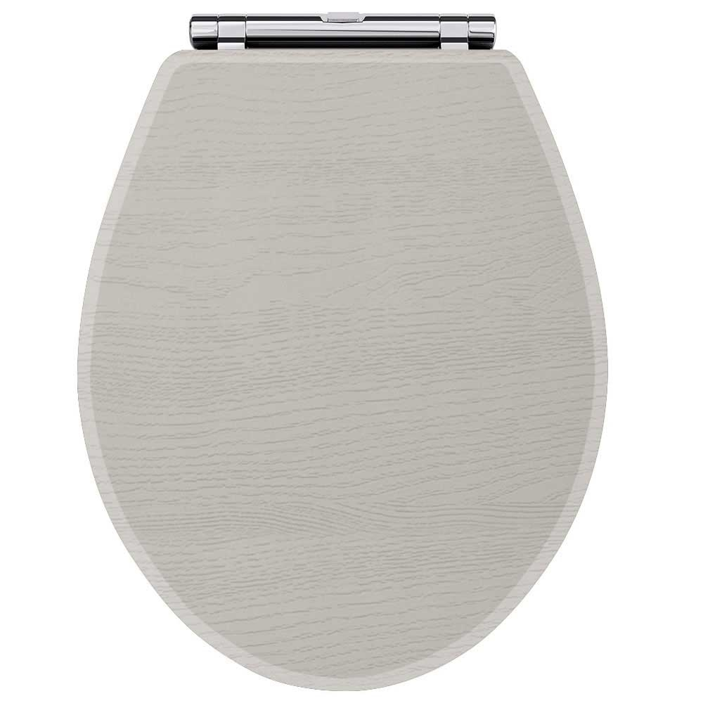 Premier York Soft Close Toilet Seat - Stone Grey