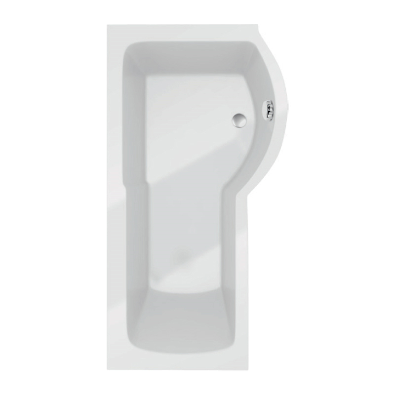 Prestige Adapt P Shaped Shower Bath 1500mm x 850mm Right Hand