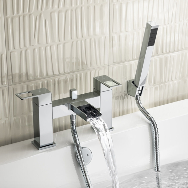 Prestige Aruba Bath Shower Mixer Tap Deck Mounted - Chrome