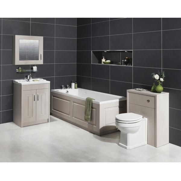 Prestige Astley Back-To-Wall Toilet Unit with Soft Close Seat excluding Cistern Stone Grey