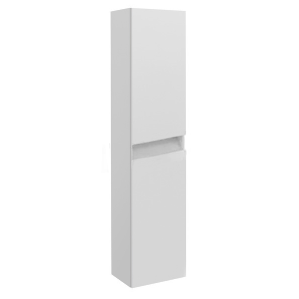 Prestige Cruz Left Handed Wall Mounted Tall Storage Unit 400mm Wide White-0
