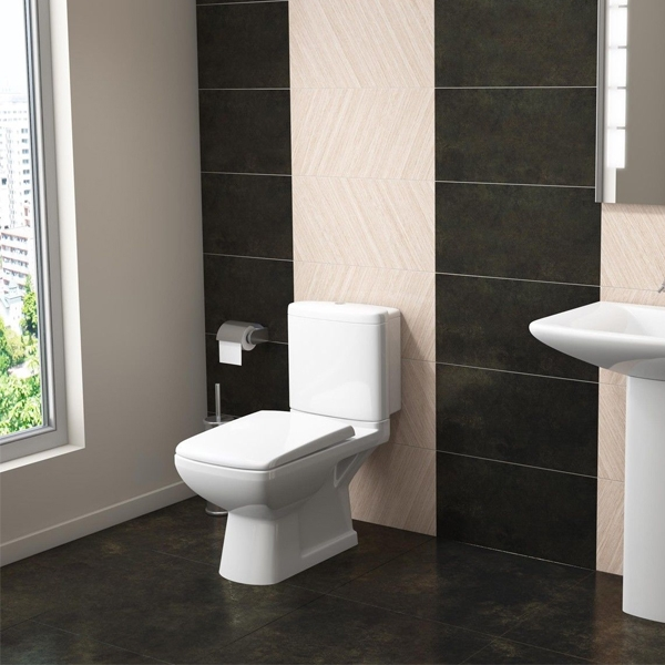 Prestige Eris Close Coupled Toilet with Dual Flush Cistern - Soft Close Seat-0