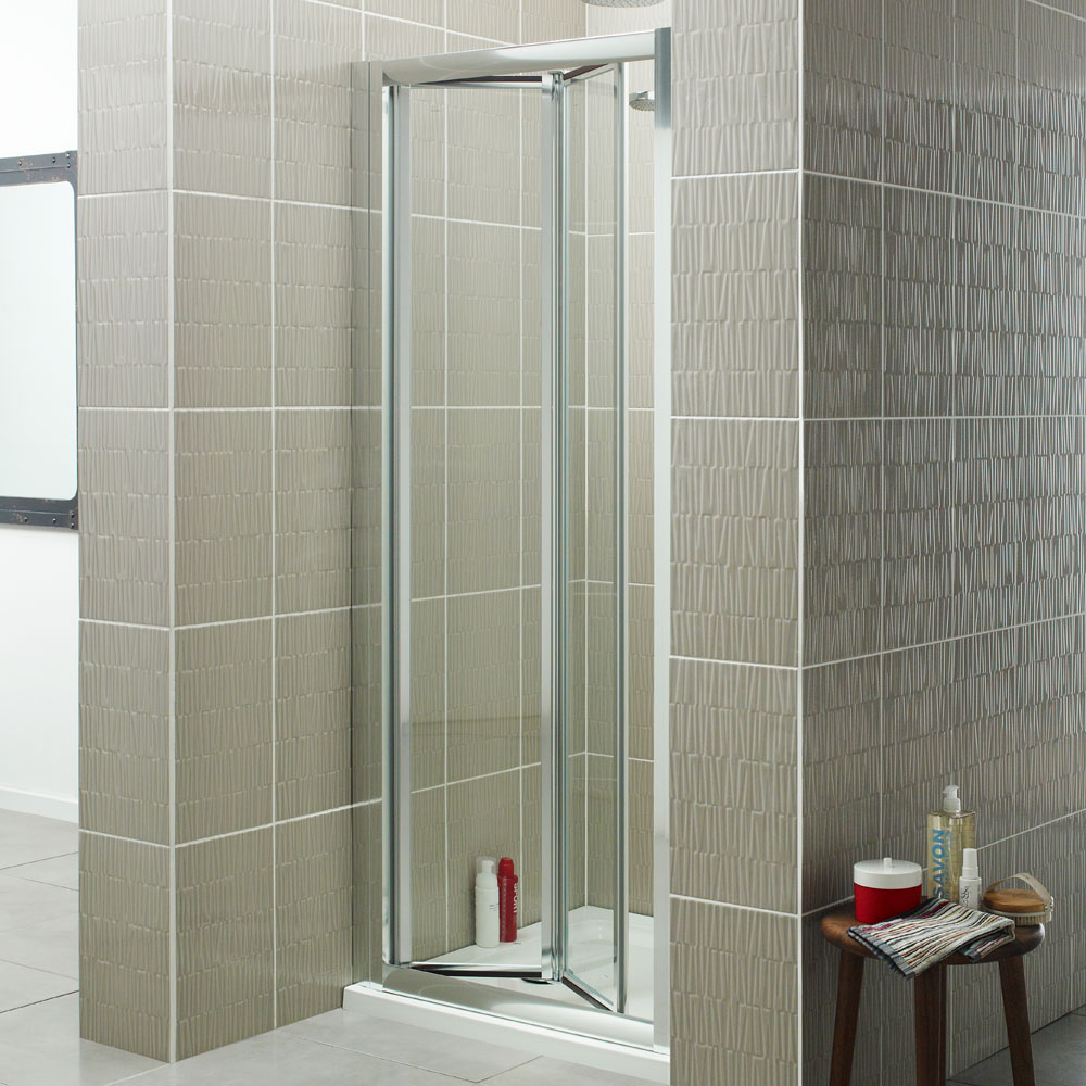 Prestige Estuary Bi-Fold Shower Door 700mm Wide - 4mm Glass-0