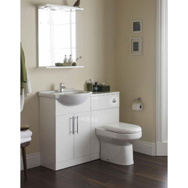 Prestige Evolve Bathroom Mirror with Lights 550mm W White
