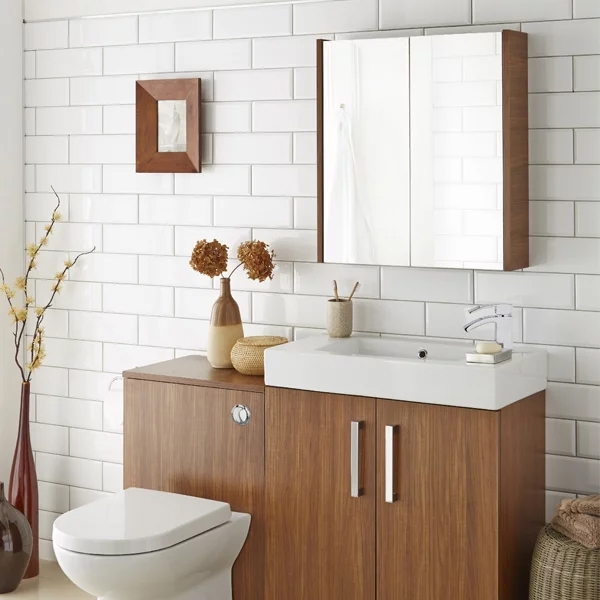 Prestige Fiji Mirror Cabinet 700mm Wide Walnut-0