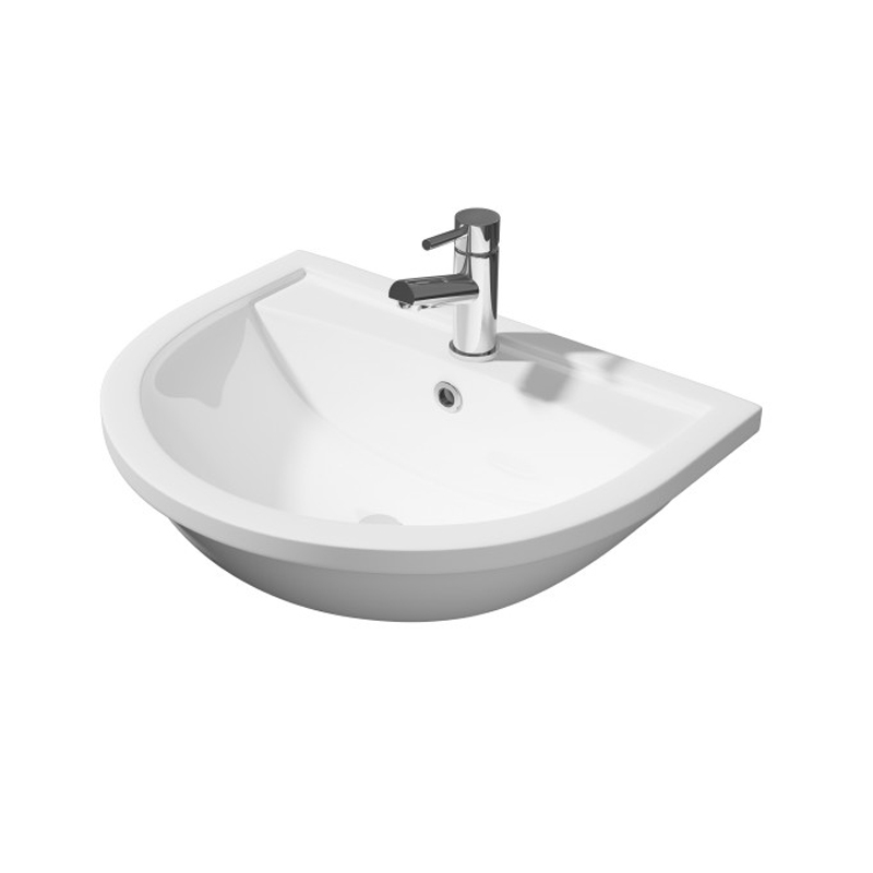 Prestige Lifestyle Semi Recessed Basin 520mm Wide 1 Tap Hole