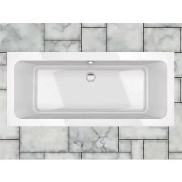 Prestige Mars Rectangular - Acrylic Bath 1800mm x 800mm Double Ended-0