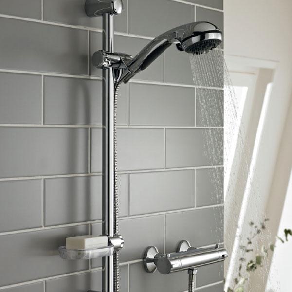 Prestige Plan Thermostatic Bar Shower with Slide Rail Kit