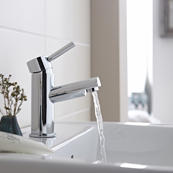 Prestige Barbuda Mono Basin Mixer Tap with Click Waste Single Handle - Chrome-0