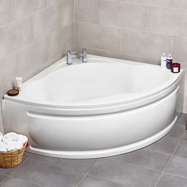 Prestige Turin Double Ended Corner Bath 1350mm x 1350mm Acrylic-0