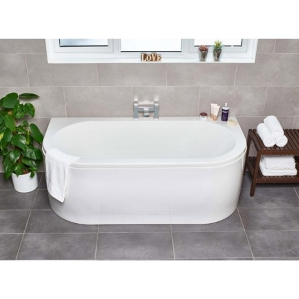 Prestige Vela Freestanding Bath 1700mm x 800mm Double Ended-0