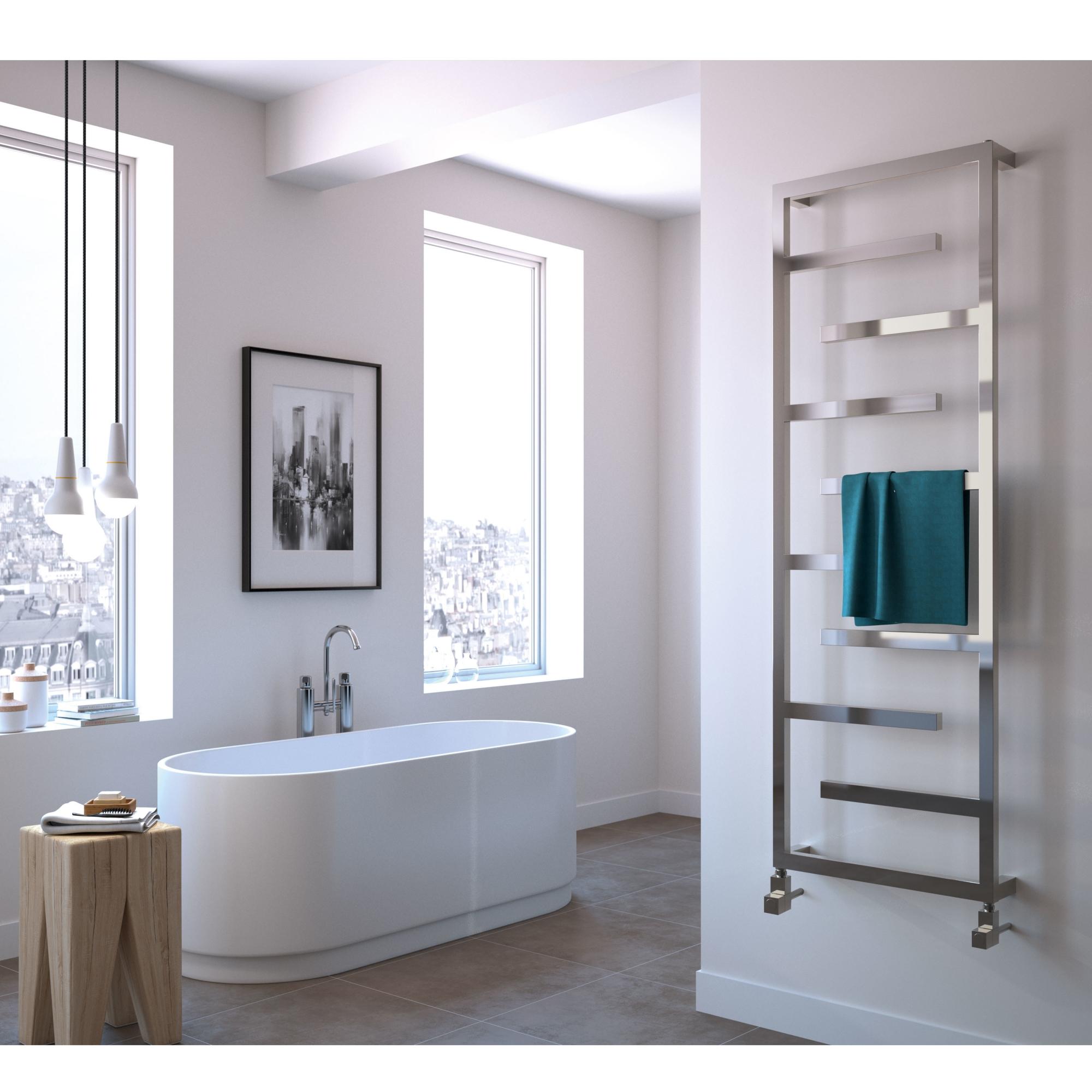 Radox Aztec Designer Heated Towel Rail 915mm H x 500mm W Stainless Steel-0
