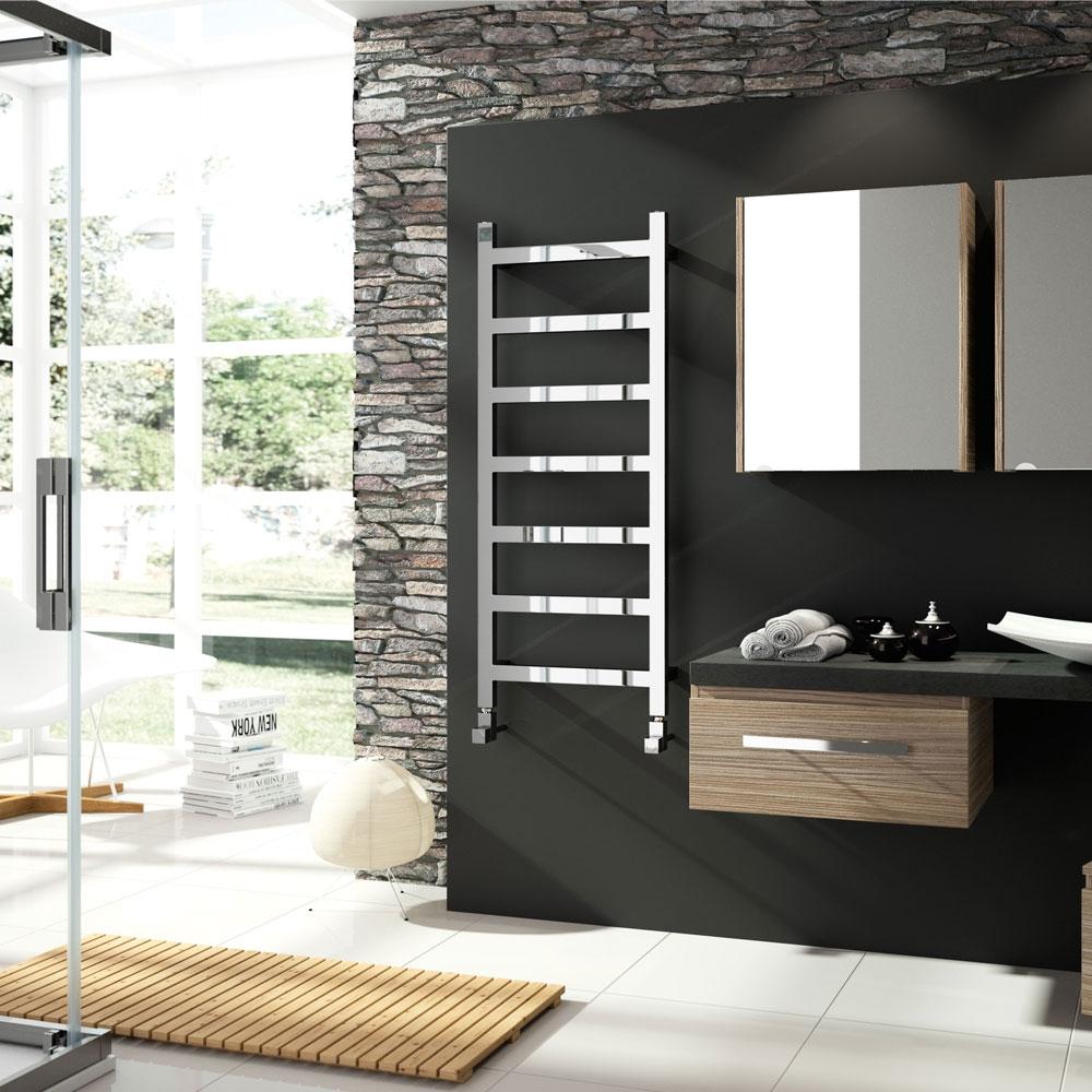 Radox Eros Designer Heated Towel Rail 875mm H x 500mm W White