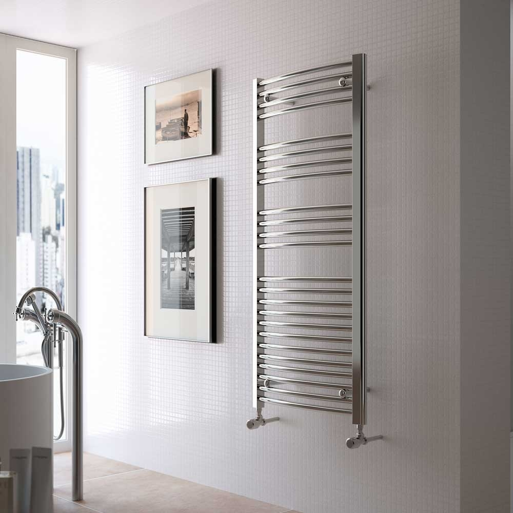 Radox Premier Curved Heated Towel Rail 800mm H x 500mm W - Chrome