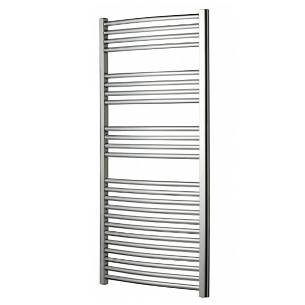 Radox Premier Curved Heated Towel Rail 1200mm H x 600mm W - Chrome-0