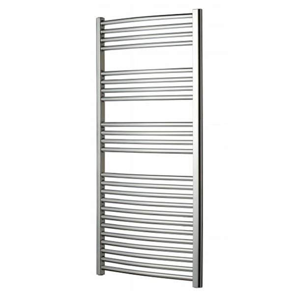 Radox Premier Curved Heated Towel Rail 1200mm H x 600mm W - Chrome