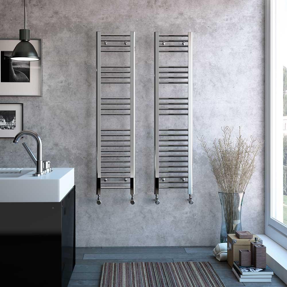Radox Premier Straight Heated Towel Rail 800mm H x 500mm W - White