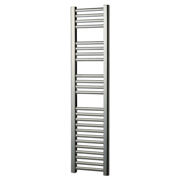 Radox Slimline Straight Heated Towel Rail 600mm H x 300mm W - White-0
