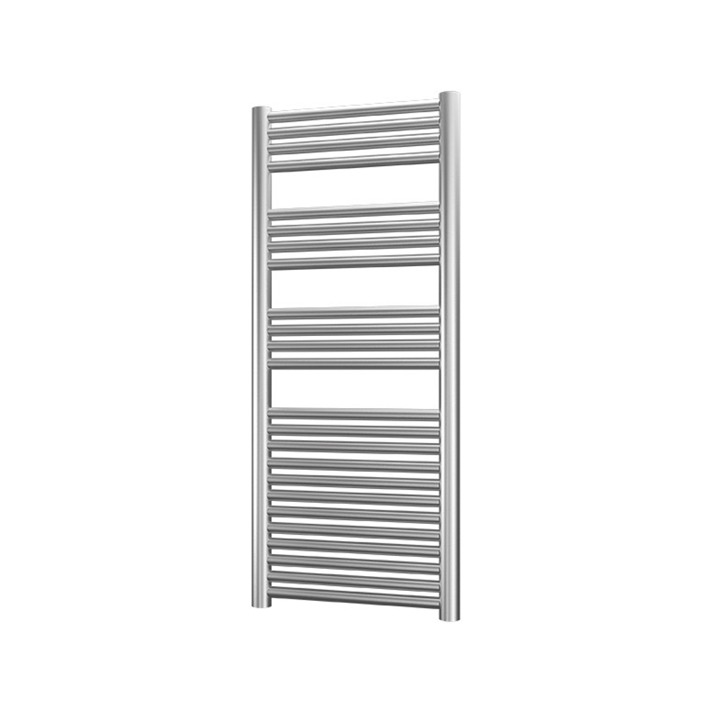 Radox Premier XL Straight Heated Towel Rail 1200mm H x 500mm W - Stainless Steel