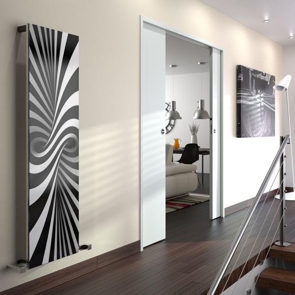 Radox Quartz Bespoke Designer Vertical Radiator 1200mm H x 560mm W Bespoke Glass