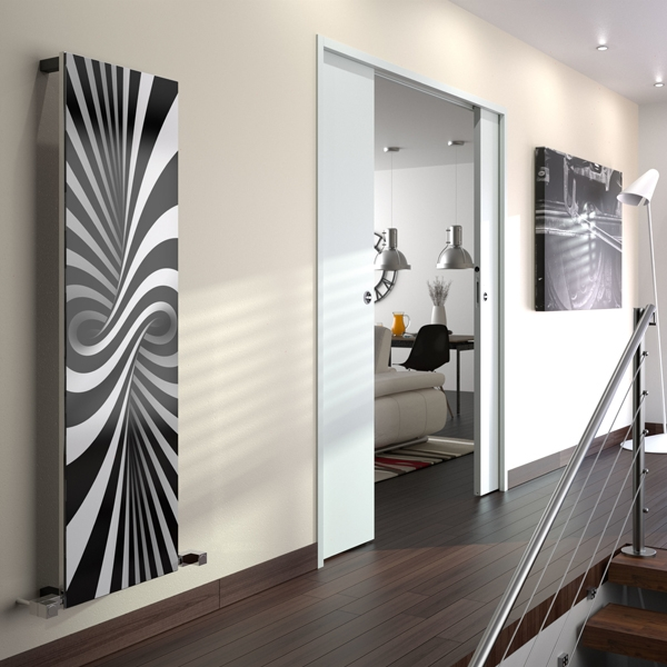 Radox Quartz Bespoke Designer Vertical Radiator 1800mm H x 560mm W Bespoke Glass